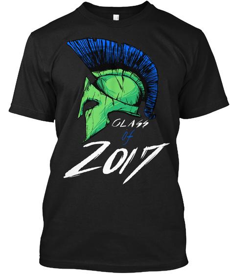 Class Of 2017 Black T-Shirt Front