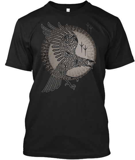 Raven   Odin No Mercy Black T-Shirt Front
