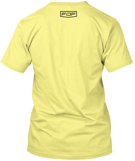 Family Dreams Fitness Summer Lemon Yellow  T-Shirt Back