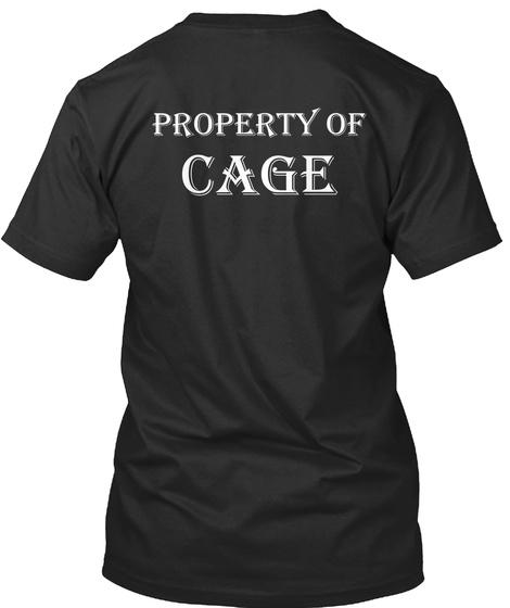 Property Of Cage Black T-Shirt Back