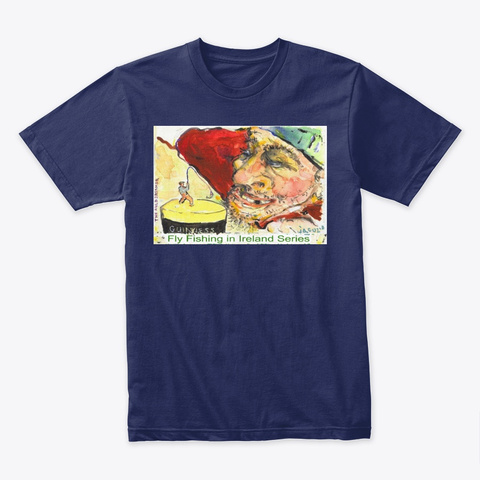 The Auld Dreamer Midnight Navy T-Shirt Front
