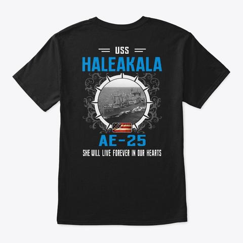 Uss Haleakala Ae 25 Black T-Shirt Back