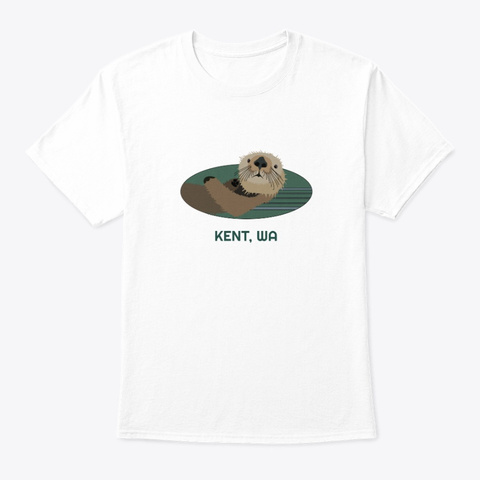Kent Wa Otter Pnw Native American White T-Shirt Front