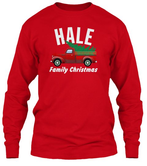 Hale Family Christmas Red T-Shirt Front