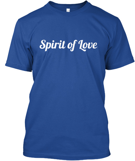 Spirit Of Love Deep Royal T-Shirt Front