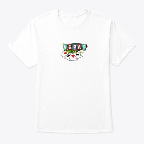 Vegas Aces White T-Shirt Front
