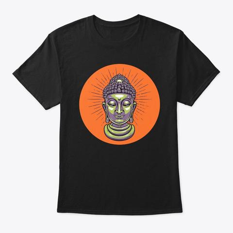 Happy Zen Black T-Shirt Front