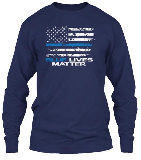 Blue Lives Matter  Long Sleeve T-Shirt Front