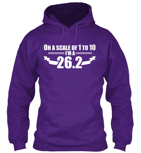 On A Scale Of 1 To 10 I'm A 26.2 Purple T-Shirt Front