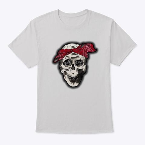 Thug Life Skull Light Steel T-Shirt Front