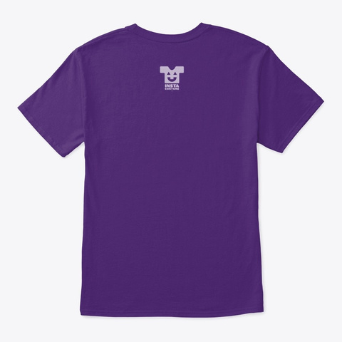 Brrooom™ Aerial Ride Sharing  2 (Mp) Purple T-Shirt Back