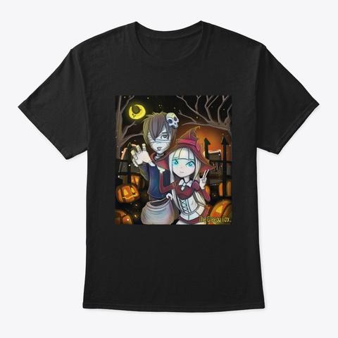 The Creepy Fox: Halloween Tricks Black T-Shirt Front