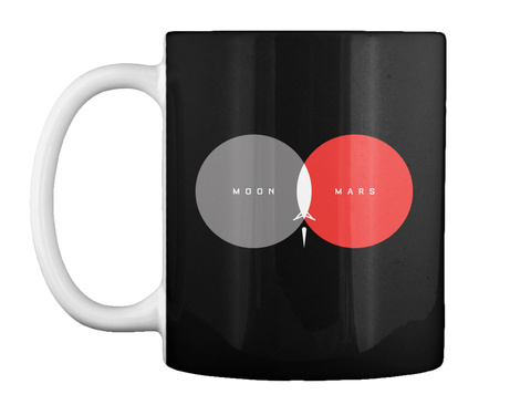 From Moon To Mars Mug [Int] #Sfsf Black Mug Front