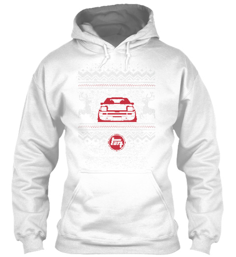 Ugly Trueno Hoodie White T-Shirt Front