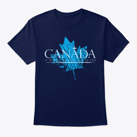 Canada From Sea To Sea Navy T-Shirt Front