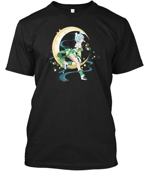 Bunny Asada Shino Sword Art Online Black T-Shirt Front