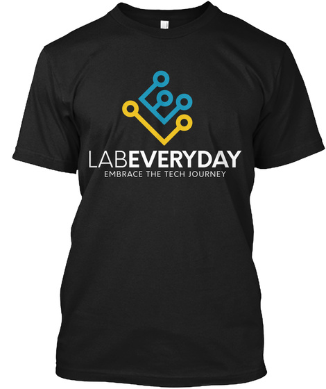 Labeveryday Color Tech Journey Tee Black T-Shirt Front