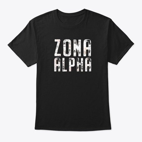 Zona Alpha Post Apocalyptic Black T-Shirt Front