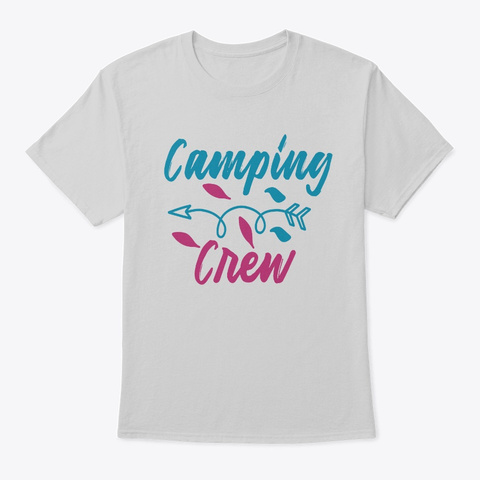 Camping Crew Bigfoot Hide And Seek Shirt Light Steel T-Shirt Front
