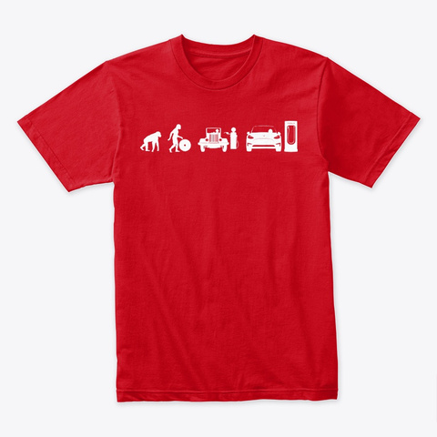 Model Y Evolve By Mad Hungarian (New!!) Red T-Shirt Front
