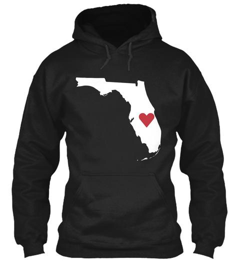 Heart Orlando Black T-Shirt Front