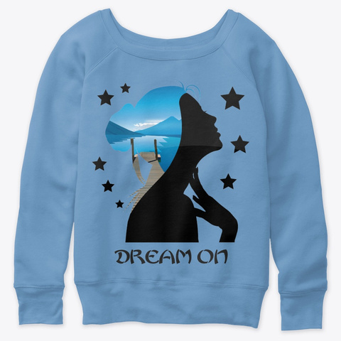Dream On! Blue Triblend  T-Shirt Front