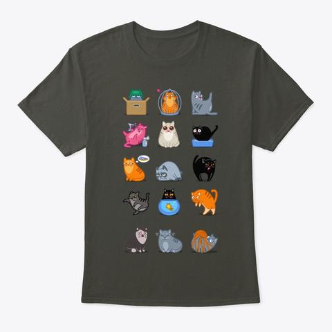 Cat Potter Cats,Harry Cute Cat Lovers Smoke Gray T-Shirt Front