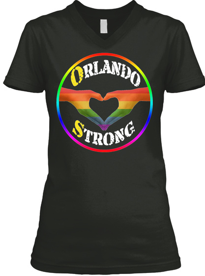 Orlando Strong Black T-Shirt Front
