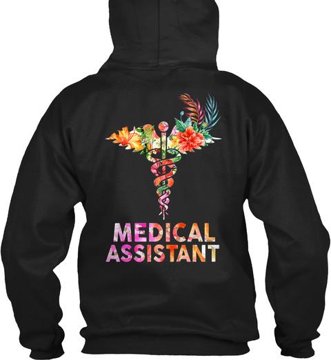 Medical Assistant Black T-Shirt Back