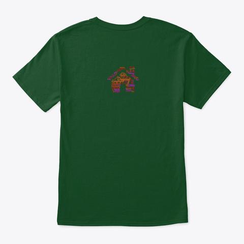 School House Cloud Deep Forest T-Shirt Back