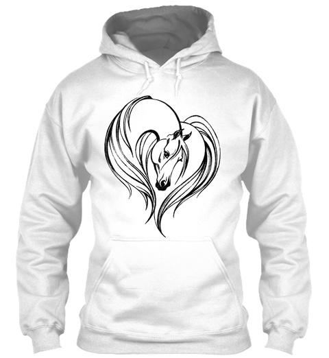 Love Horses Arctic White Sweatshirt Front