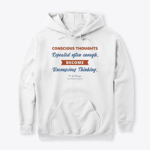 Conscious Thoughts White T-Shirt Front