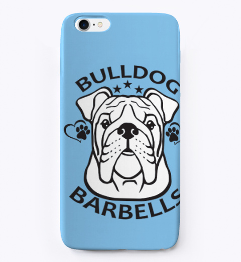 Funny Dog Phone Case Light Blue T-Shirt Front