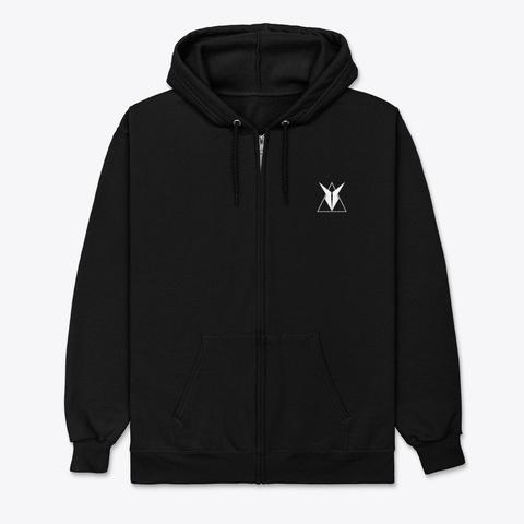 Pillezky Logo (Unisex Zip Hoodie) Black T-Shirt Front