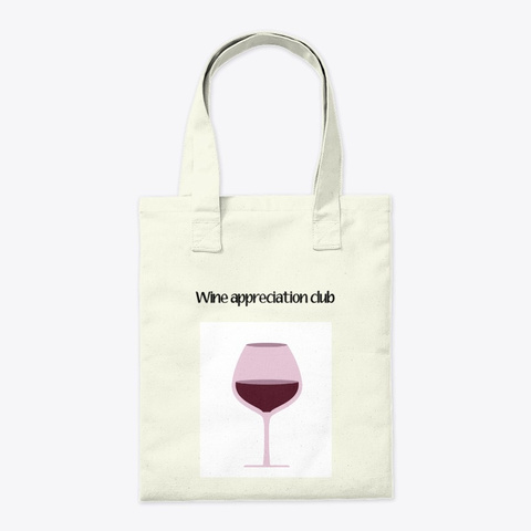 Wine Appreciation Club Natural T-Shirt Back