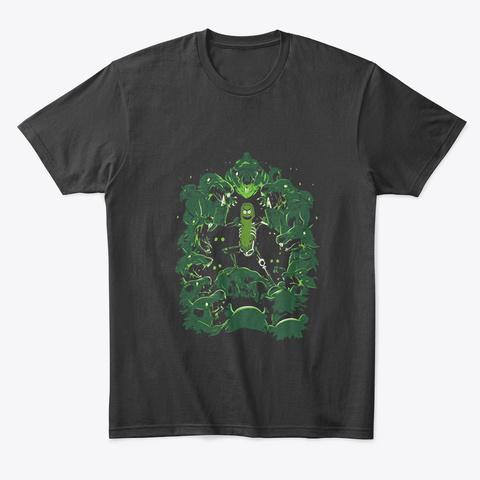 Pickle Rick Vs The Rats Black T-Shirt Front