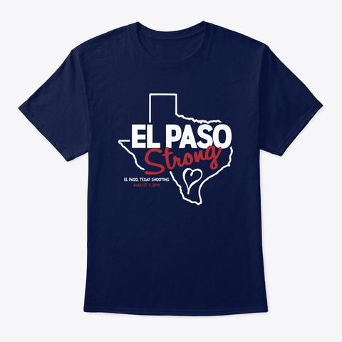 El Paso Strong T Shirts Navy T-Shirt Front