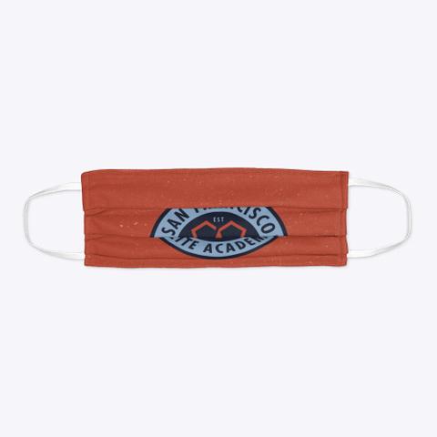 Orange Sfea Face Mask Standard T-Shirt Flat