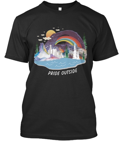 Pride Outside Black T-Shirt Front