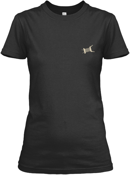 In My Head I'm Quilting Black T-Shirt Front