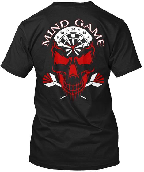 Mind Game 9 12 5 20 1 18 4 Black T-Shirt Back