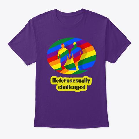 Gay Pride Colors  Gay Parade Purple T-Shirt Front