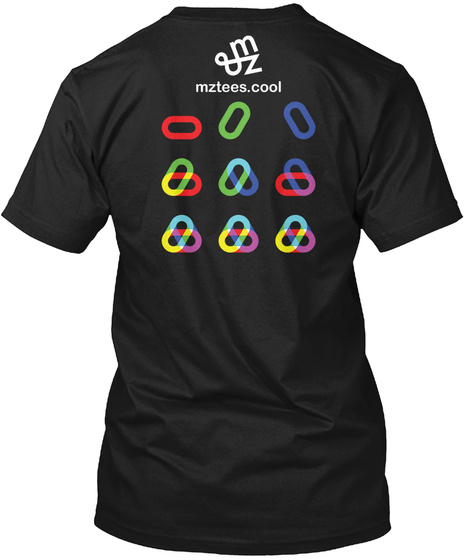 Rgb Loops Black T-Shirt Back