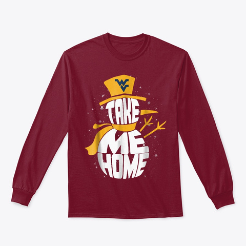 West Virginia Mountaineers Christmas Cardinal Red T-Shirt Front