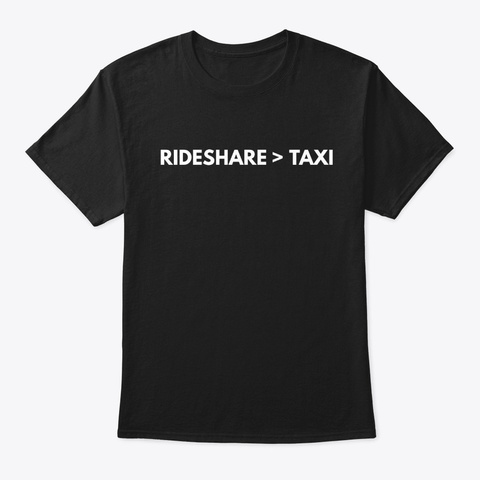 Rideshare > Taxi Black Shirt For Drivers Black T-Shirt Front