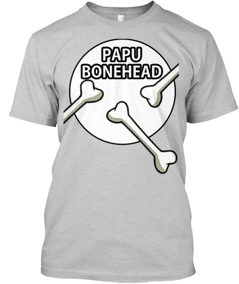 Bonehead T Shirt Papu Light Steel T-Shirt Front