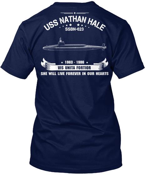 Uss Nathan Hale (Ssbn 623) Navy T-Shirt Back