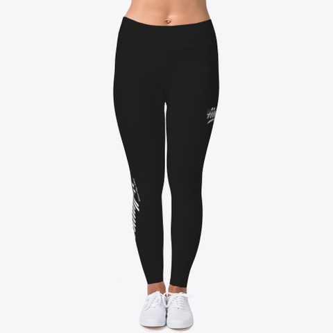 Internet Hollywood Woman's Vs1 Leggings Black T-Shirt Front