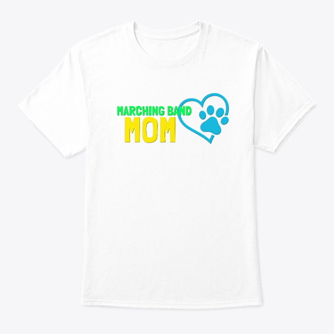 [$15+] Tiger Band Mom White T-Shirt Front