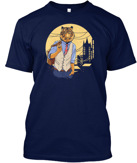 Tiger Navy T-Shirt Front